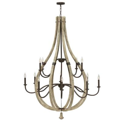 Fredrick Ramond Lighting FR40579IRR Middlefield - Twelve Light Chandelier