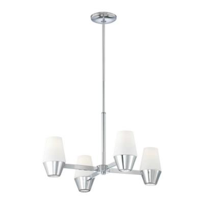 George Kovacs Lighting P1584-077 Retrodome - Eight Light Chandelier