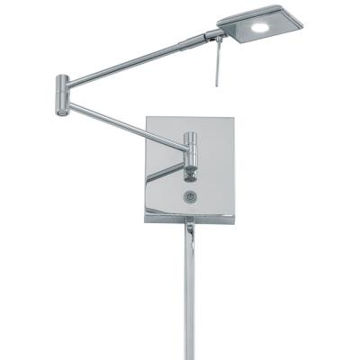 George Kovacs Lighting P4328-077 George's Reading Room - 1 LED Swing Arm Wall Sconce