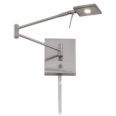 """George Kovacs Lighting P4328-084 George's Reading Room - 13.75"""" 8W 1 LED Swing Arm Wall Sconce"""