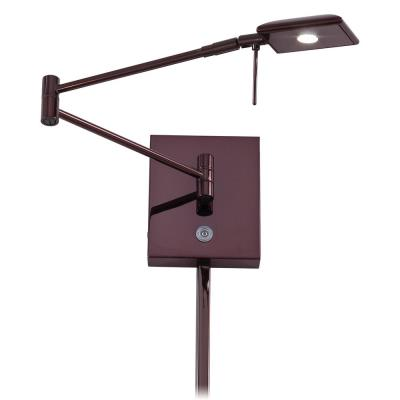 "George Kovacs Lighting P4328-631 George's Reading Room - 13.75"" 8W 1 LED Swing Arm Wall Sconce"
