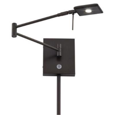 """George Kovacs Lighting P4328-647 George's Reading Room - 13.75"""" 8W 1 LED Swing Arm Wall Sconce"""