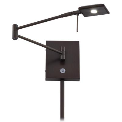 "George Kovacs Lighting P4328-647 George's Reading Room - 13.75"" 8W 1 LED Swing Arm Wall Sconce"