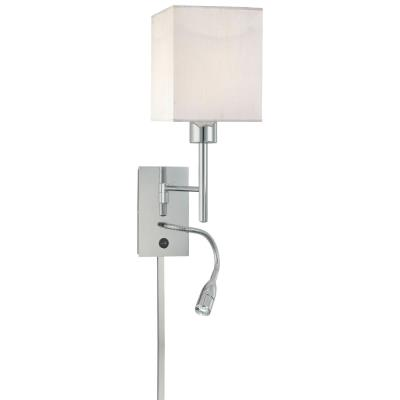 """George Kovacs Lighting P477-077 20.20"""" Two Light Swing Arm Wall Sconce with Reading Lamp"""