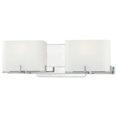 George Kovacs Lighting P5152-077 Curvy Corner - Two Light Bath Vanity