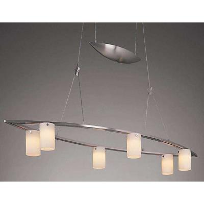"""George Kovacs Lighting P8026-084 Counter Weights - 36"""" Six Light Low Voltage Island"""