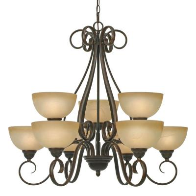 Golden Lighting 1567-9 PC Riverton - 9 Light Chandelier
