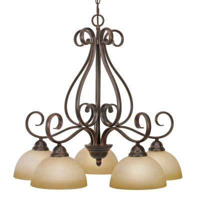 Golden Lighting 1567-D5 PC Riverton - 5 Light Chandelier