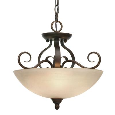 Golden Lighting 1567-SF PC Riverton - Three Light Semi-Flush