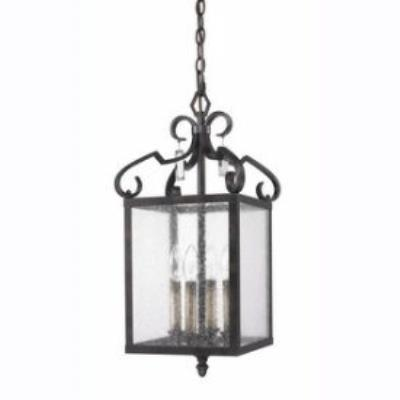 Golden Lighting 2049-SF FB Valencia - Four Light Convertible Semi-Flush Mount