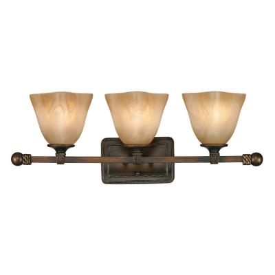 Golden Lighting 3890-BA3 GB 3 Light Vanity