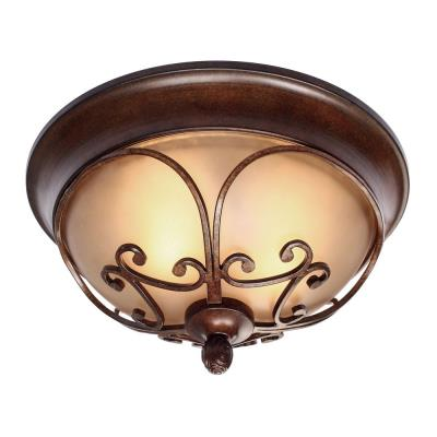 Golden Lighting 4002-FM RSB Loretto Flush Mount