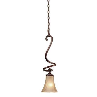 Golden Lighting 4002-M1L RSB Loretto Mini Pendant