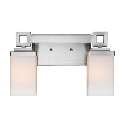 Golden Lighting 4444-BA2 PW Nelio - Two Light Bath Bar