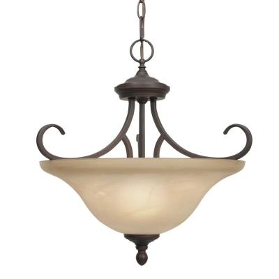Golden Lighting 6005-SF RBZ Convertible Semi-Flush