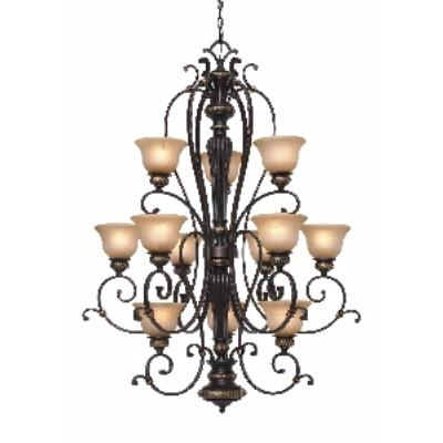 Golden Lighting 6029-363 EB 3 Tier Chandelier