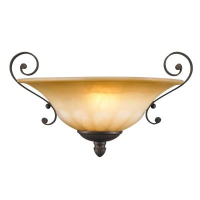 Golden Lighting 7116-WSC LC 1 Light Wall Sconce