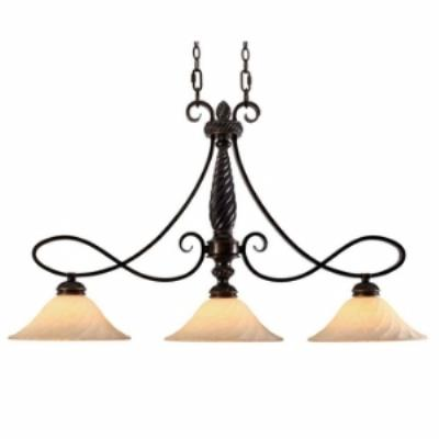 Golden Lighting 8106-10 Torbellino - Three Light Island Fixture