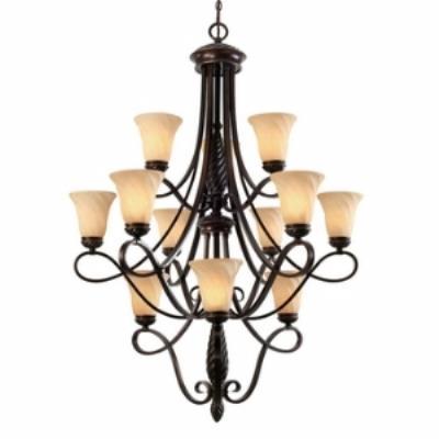 Golden Lighting 8106-363 Torbellino - Twelve Light 3 Tier Chandelier
