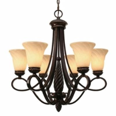 Golden Lighting 8106-6 Torbellino - Six Light Chandelier