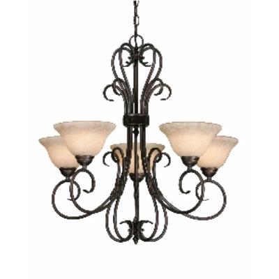 Golden Lighting 8606-5 RBZ 5 Light Chandelier