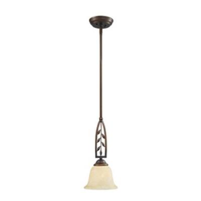 Golden Lighting 8995-M1L SBZ Woodbriar - One Light Mini-Pendant