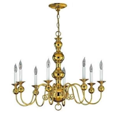 Hinkley Lighting 5128PB Virginian Chandelier
