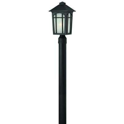 Hinkley Lighting 1981BK Cedar Hill - One Light Outdoor Post