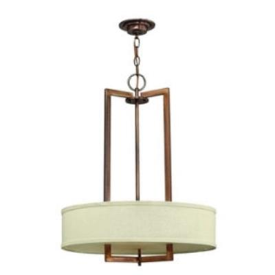 Hinkley Lighting 3203BR Hampton Three Light Chandelier