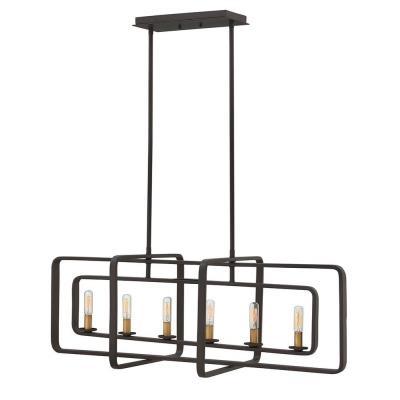 Hinkley Lighting 4815KZ Quentin - Six Light Stem Hung Linear Pendant