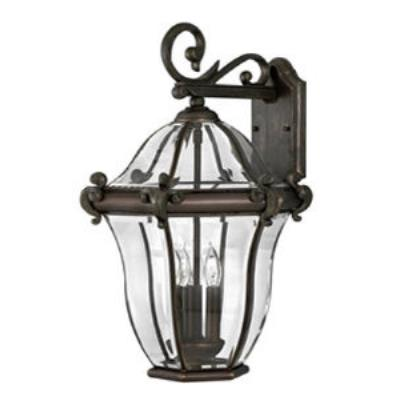 Hinkley Lighting 2445CB San Clemente Brass Outdoor Lantern Fixture