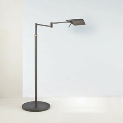"""Holtkotter Lighting 9602 52"""" Two-Tone LED Swing-Arm Floor Lamp"""