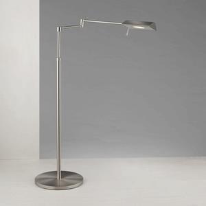"52"" Two-Tone LED Swing-Arm Floor Lamp"