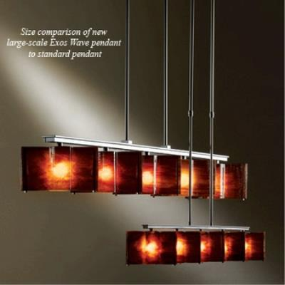 Hubbardton Forge 13-7547 Exos Wave - Five Light Large Pendant