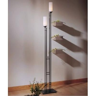 Hubbardton Forge 24-8416C Metra Twin - Two Light Tall Floor Lamp