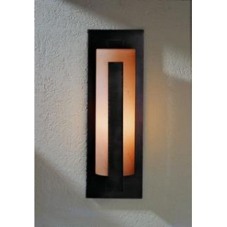 """Hubbardton Forge 30-7287 One Light Outdoor Wall Sconce with 24"""" Forged Vertical Bars"""