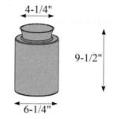 "Hubbardton Forge 29-0685-ST Glass -Cyl 6.30"" x 9.50"""