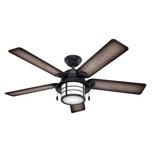 """Key Biscayne - 54"""" Outdoor Ceiling Fan with Light Kit"""