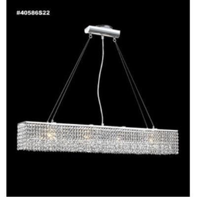 James Moder Lighting 40586S22 Impact - Six Light Linear Chandelier