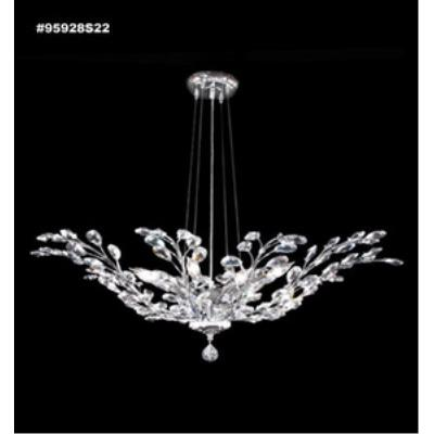 James Moder Lighting 95928 Florale - Eight Light Chandelier