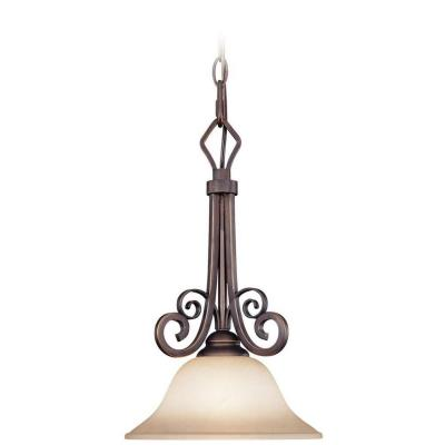 Jeremiah Lighting 21731-AGT Preston Place - One Light Mini Pendant
