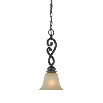Jeremiah Lighting 25221-MB Highland Place - One Light Mini-Pendant