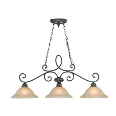 Jeremiah Lighting 25233-MB Highland Place - Three Light Island