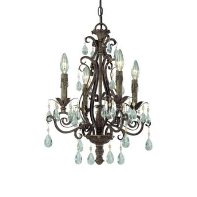 Jeremiah Lighting 25624-FR Englewood - Four Light Chandelier