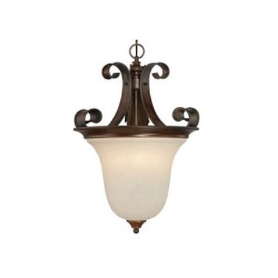 Jeremiah Lighting 28023-SPZ Seville - Three Light Inverted Pendant