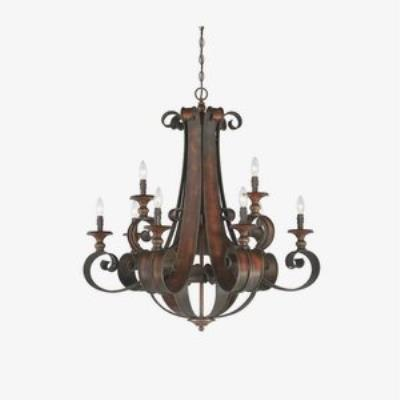 Jeremiah Lighting 28029-SPZ Seville - Nine Light 2-Tier Chandelier