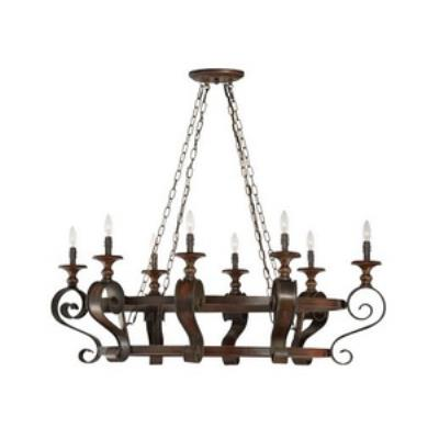 Jeremiah Lighting 28038-SPZ Seville - Eight Light Chandelier