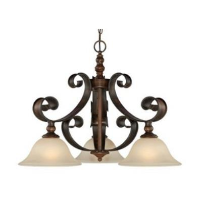 Jeremiah Lighting 28072-SPZ Seville - Three Light Pendant