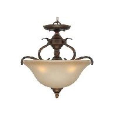 Jeremiah Lighting 29053-BBZ Mckinney - Three Light Convertible Semi-Flush Mount