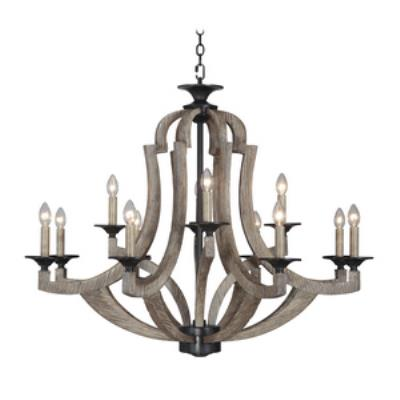 Jeremiah Lighting 35112-WP Winton - Twelve Light Chandelier